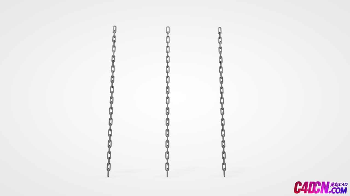C4D模型 37 链条 锁链模型 Chains