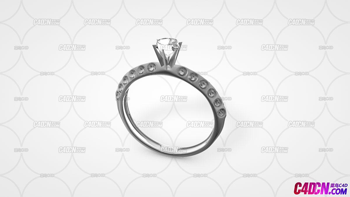 C4D模型 钻石戒指