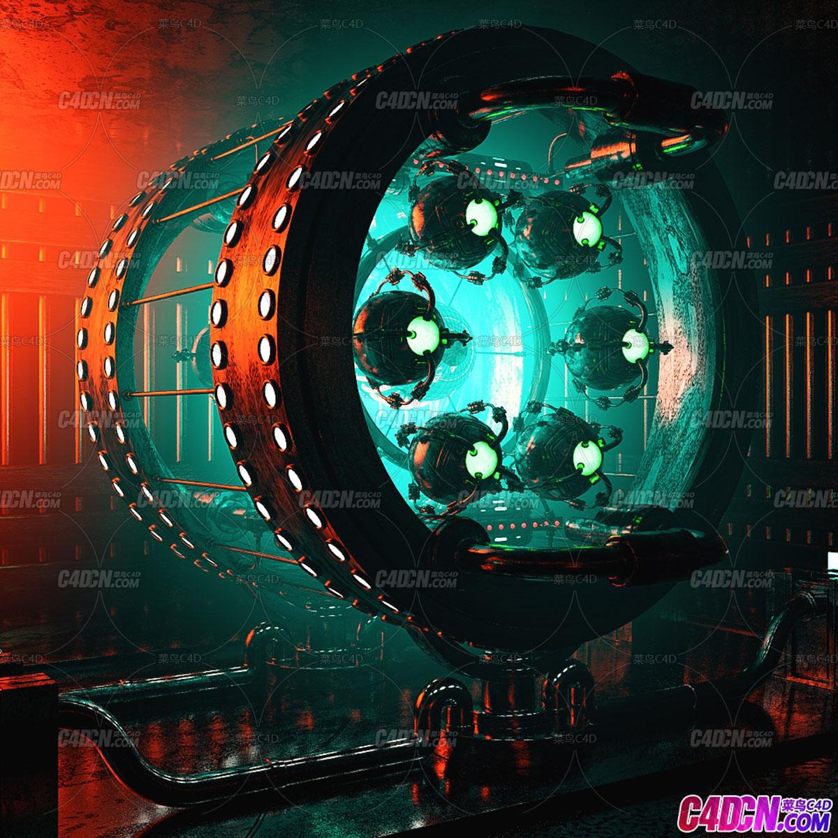 C4D精品工程 No.311神秘机器动画工程