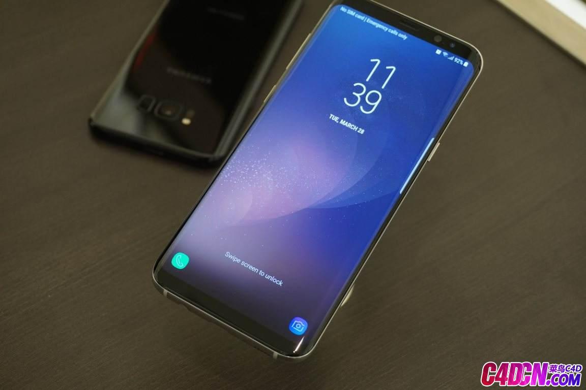 C4D模型 三星S8+手机模型