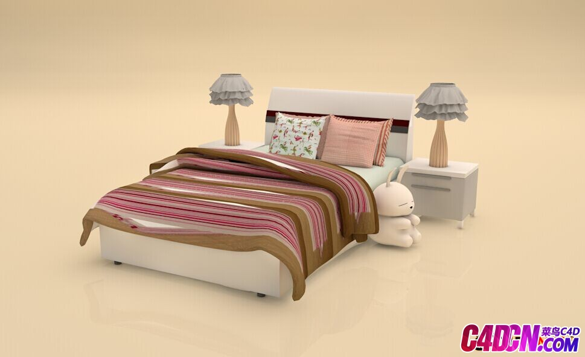 儿童床模型套装