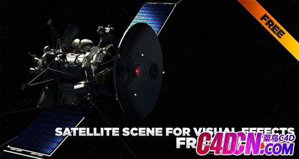 C4D太空卫星模型 SATELLITE SCENE FOR VISUAL EFFECTS