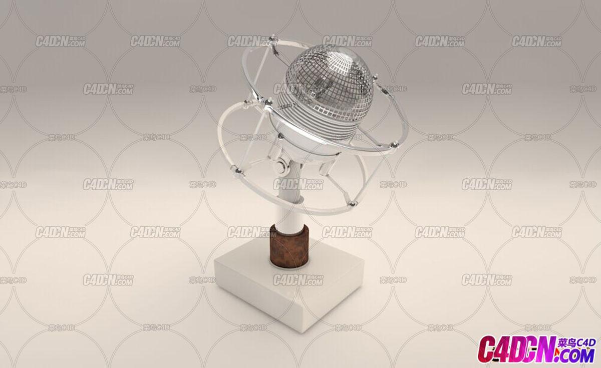 C4D老式话筒模型Microphone