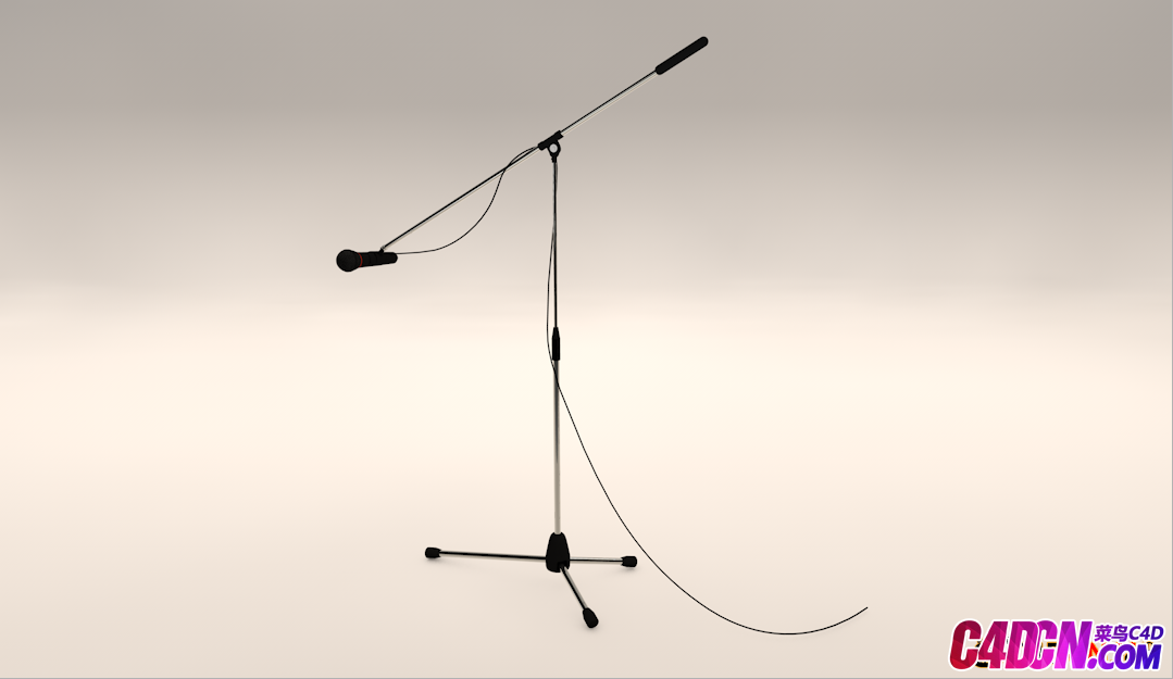 C4D麦克风架模型Microphone with stand