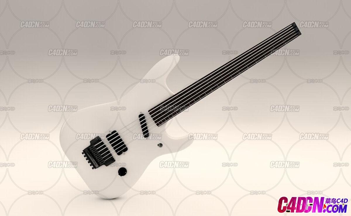 C4D吉他模型2