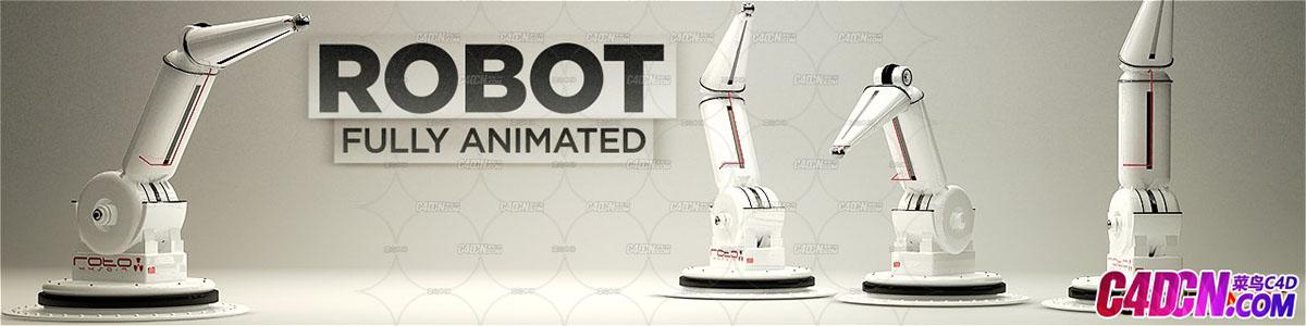 C4D机械手臂模型Robot-Arm