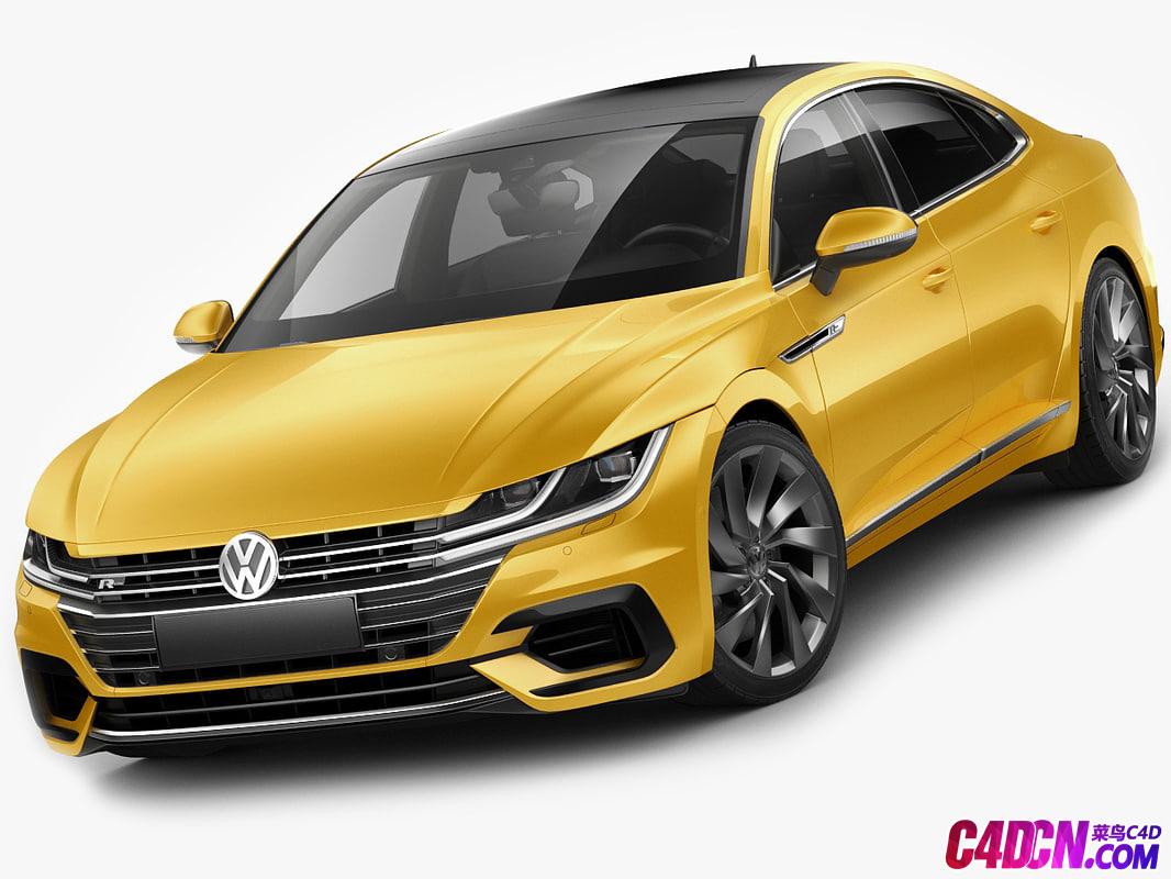 大众新CC Arteon汽车C4D模型  Volkswagen Arteon R-line 2018