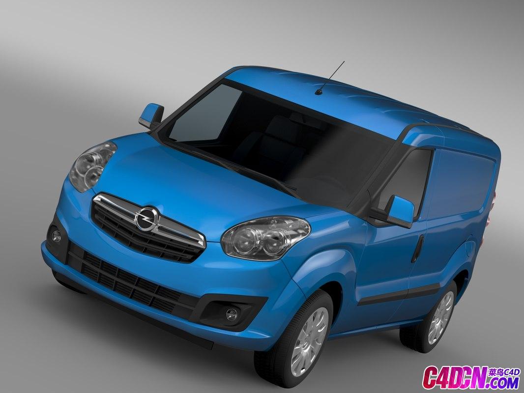 欧宝面包车MPV小汽车商务车C4D模型 Opel Combo SWB Cargo 2015