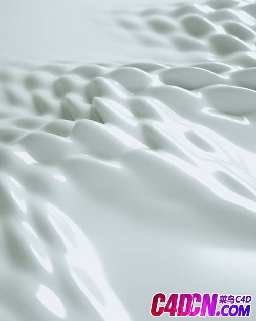 Octane渲染器乳白色牛奶表面舞动动画C4D工程 Octane Renderer Milky White Surface Dancing Animation