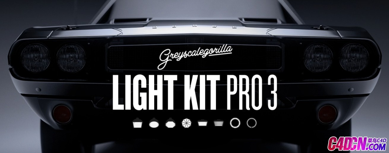 灰猩猩C4D灯光预设 GreyScaleGorilla Light Kit Pro v3 R18 – R20 Win/Mac XX版