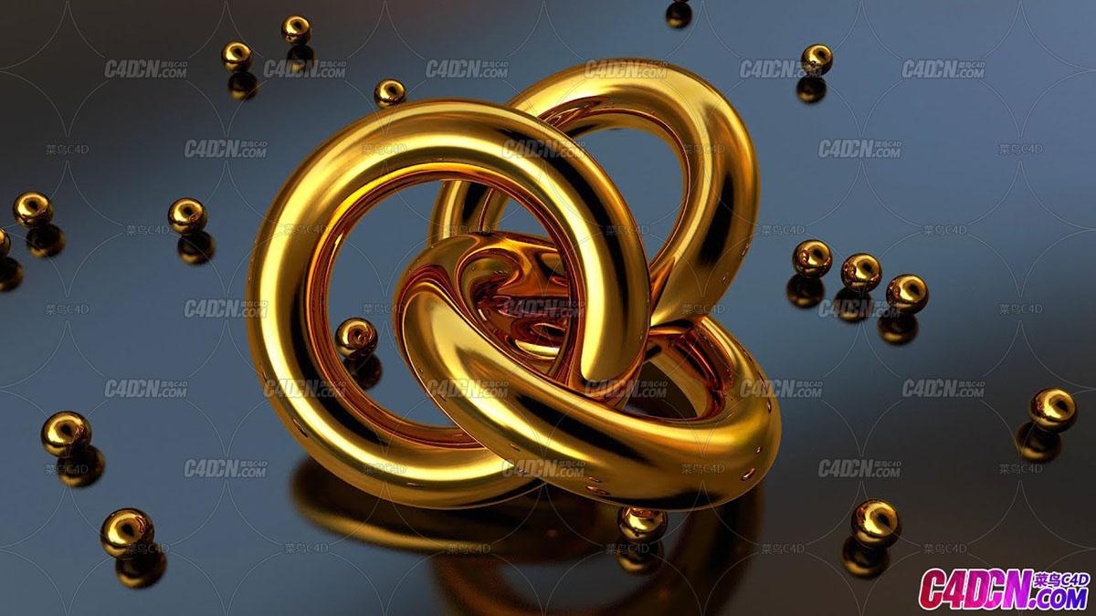 超逼真写实黄金材质C4D教程 Cinema 4D - Ultra Realistic Gold Material Tutorial