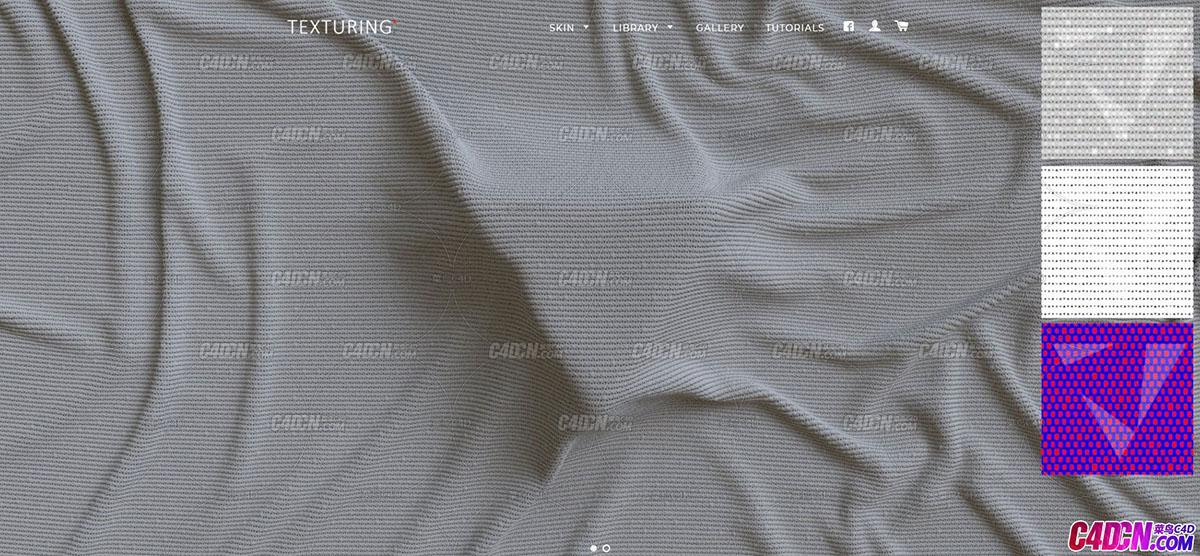 C4D贴图 高精度tif布料法线贴图 texturingxyz sf fabrics broderie 03