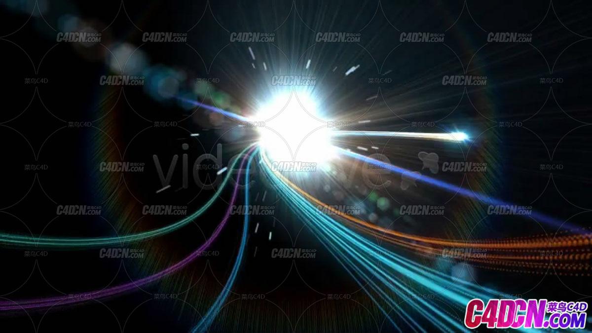 光线穿梭揭示标志片头AE模板
