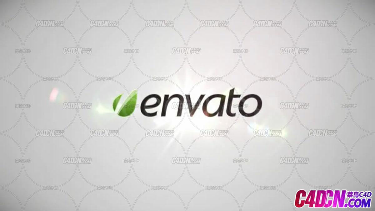 简洁明亮光线缓慢穿梭logo飞出片头AE模板