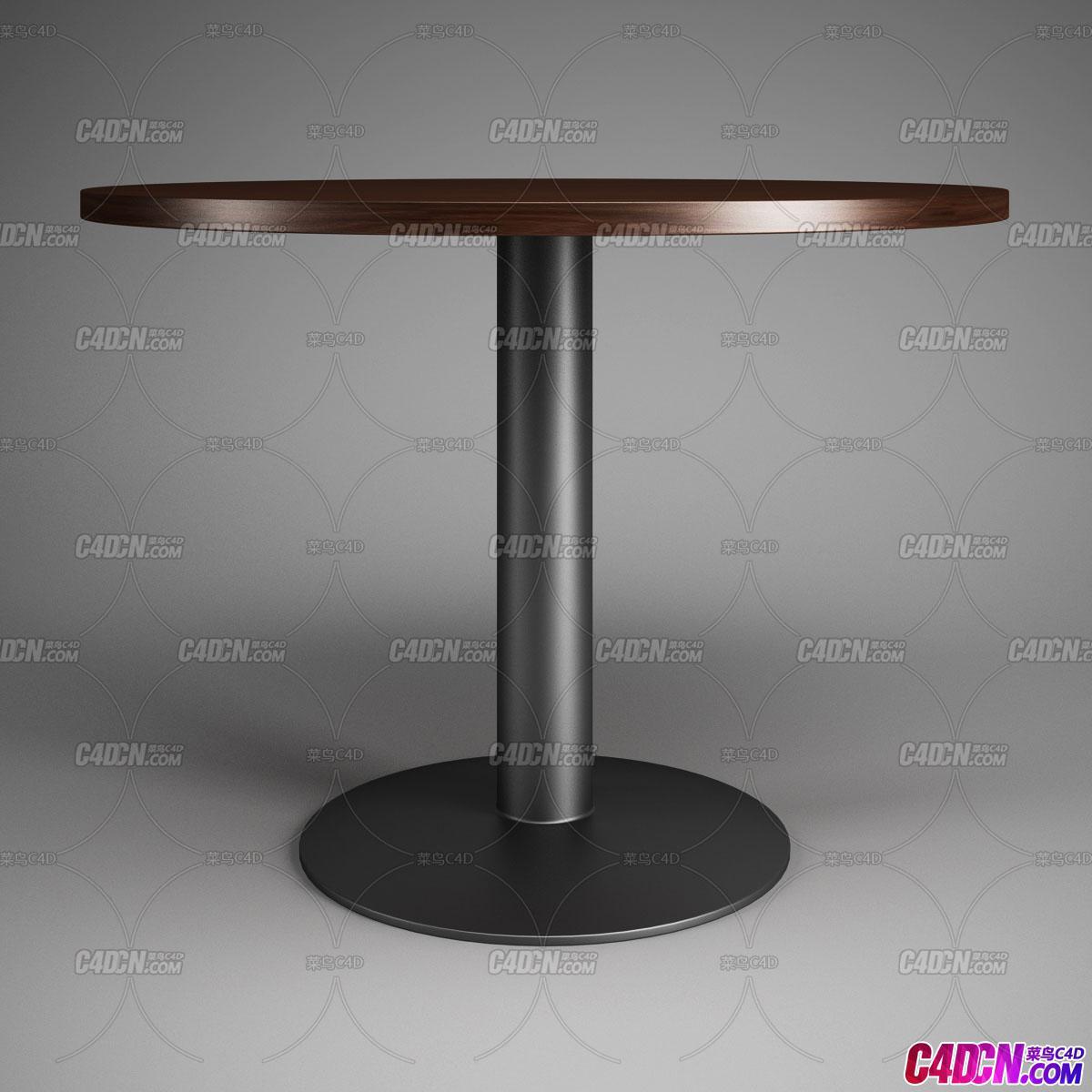 办公室圆桌桌子C4D模型