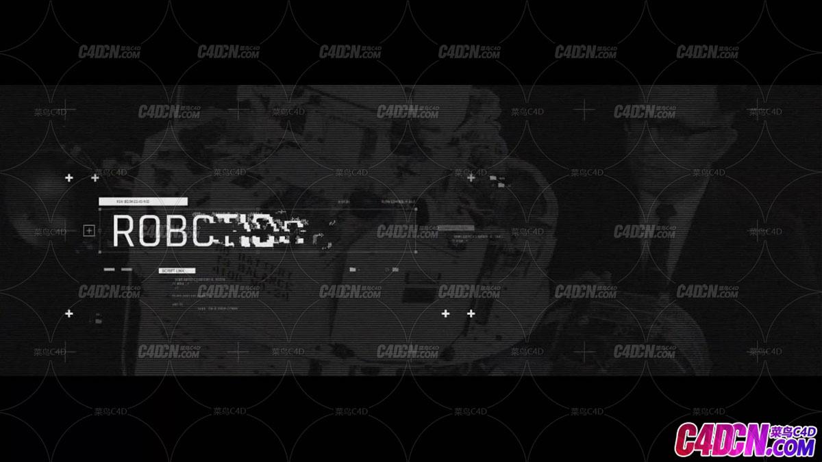 科幻界面动画标题文字设计AE模板