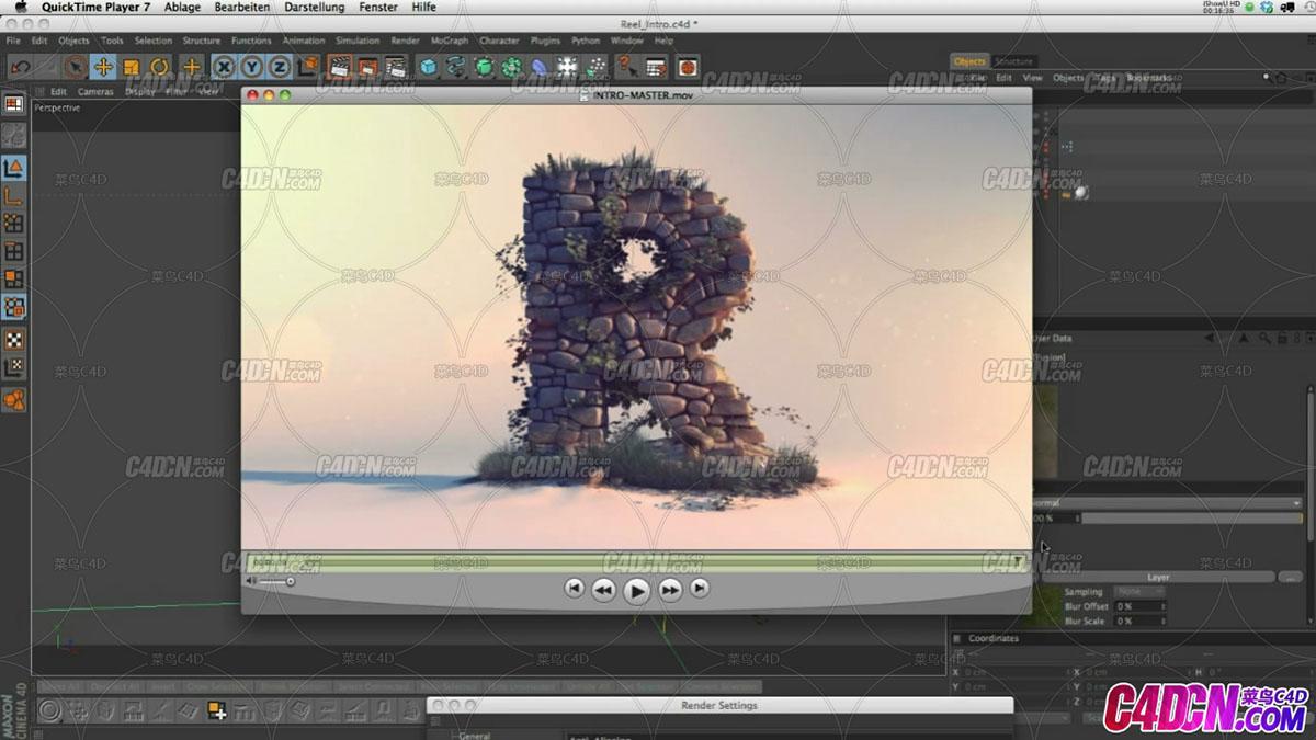 GSG090 Cinema 4D卷轴介绍动画细分C4D教程