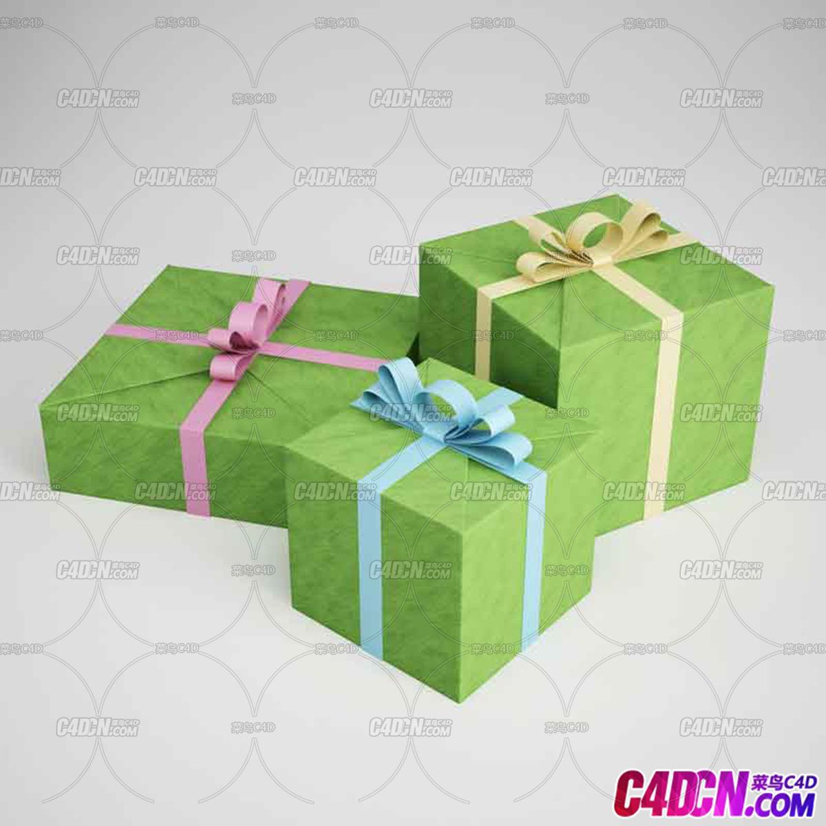 禮物盒禮品盒包裝盒C4D模型
