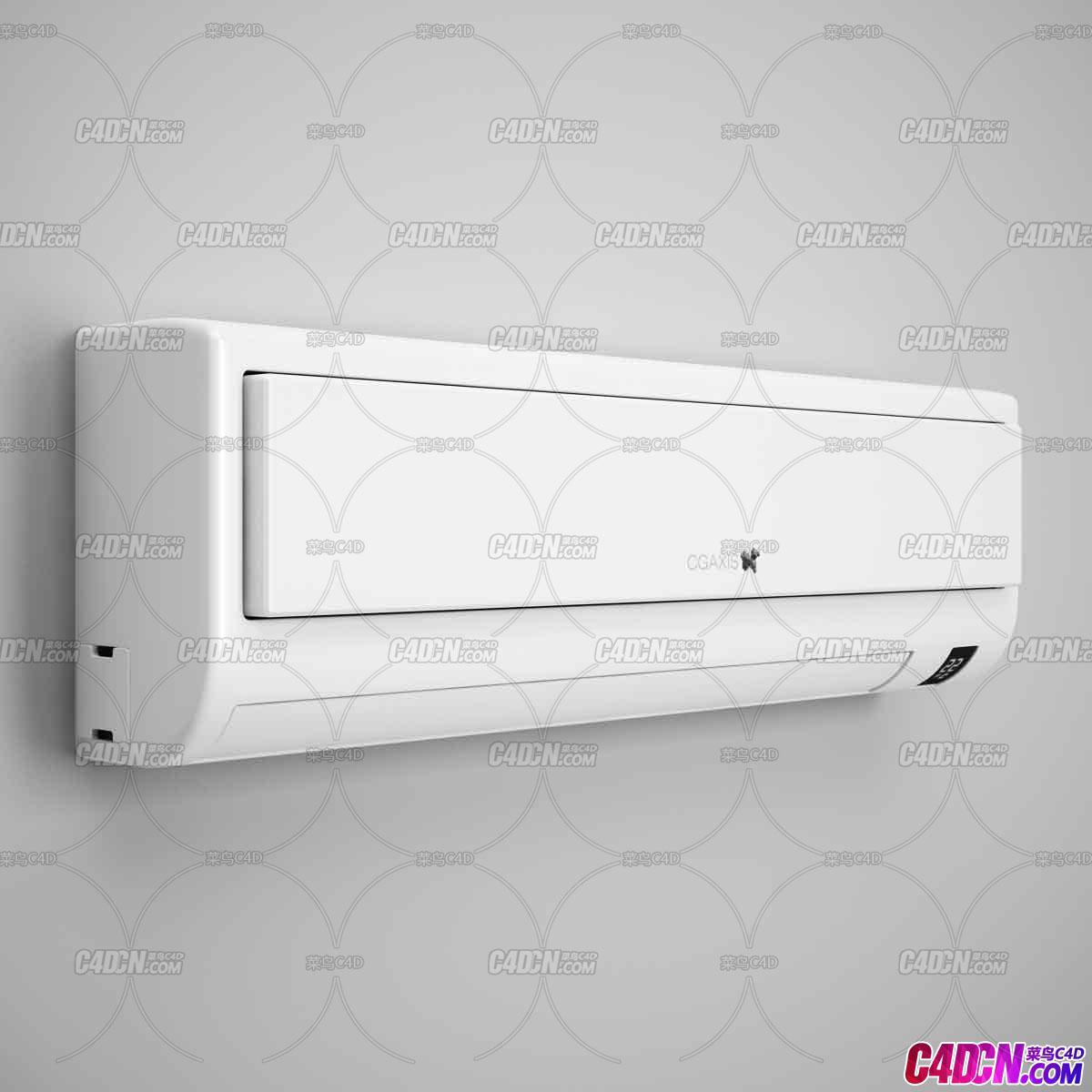 家用壁挂式空调电器C4D模型