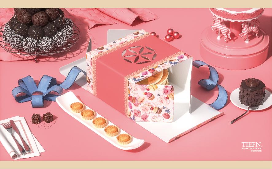 【腾小渔】——蛋糕盒包装设计