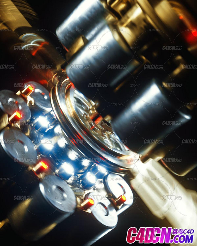 [动画工程] C4D精品工程:科幻机械设备动画工程C4D Project[Cinema4D – Octane]