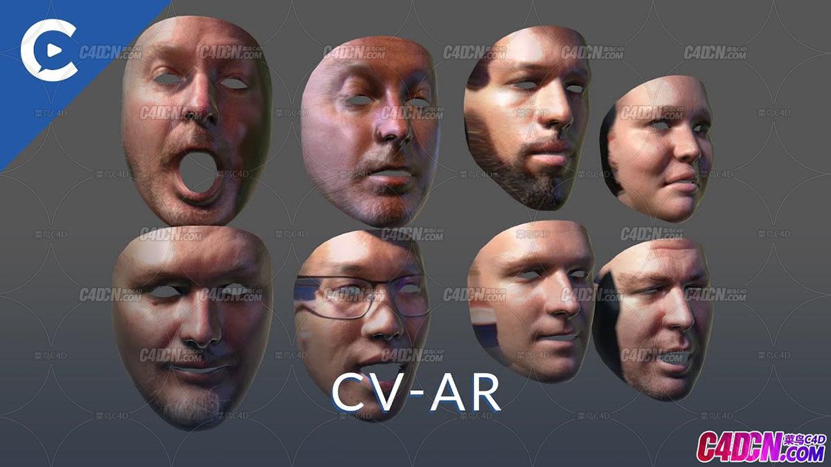 C4D专业面部表情捕捉跟踪动画C4D插件汉化版 Cineversity CV-AR v1.5 For Cinema 4D