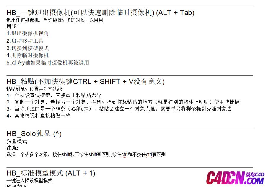 HB Modeling Bundle中文汉化包+中文官方文档(10.8版本) BY YORHA_4D