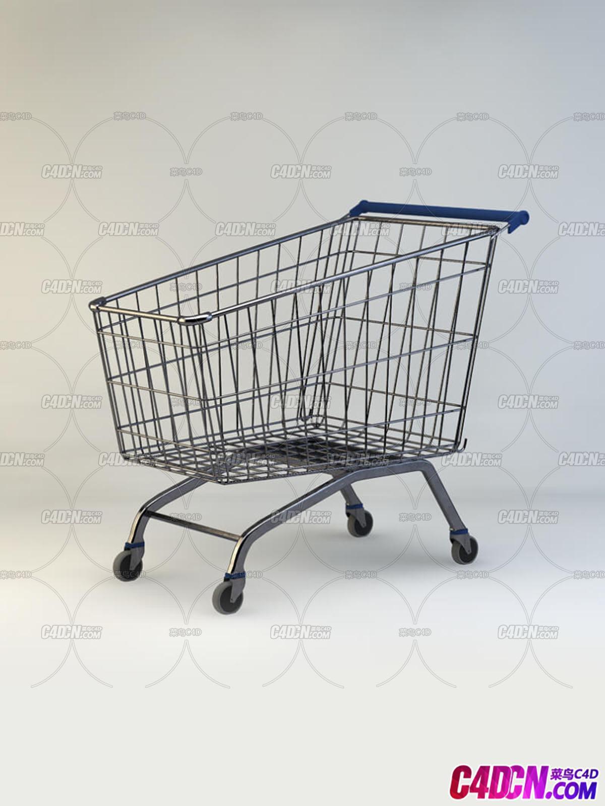 商场超市购物车C4D模型