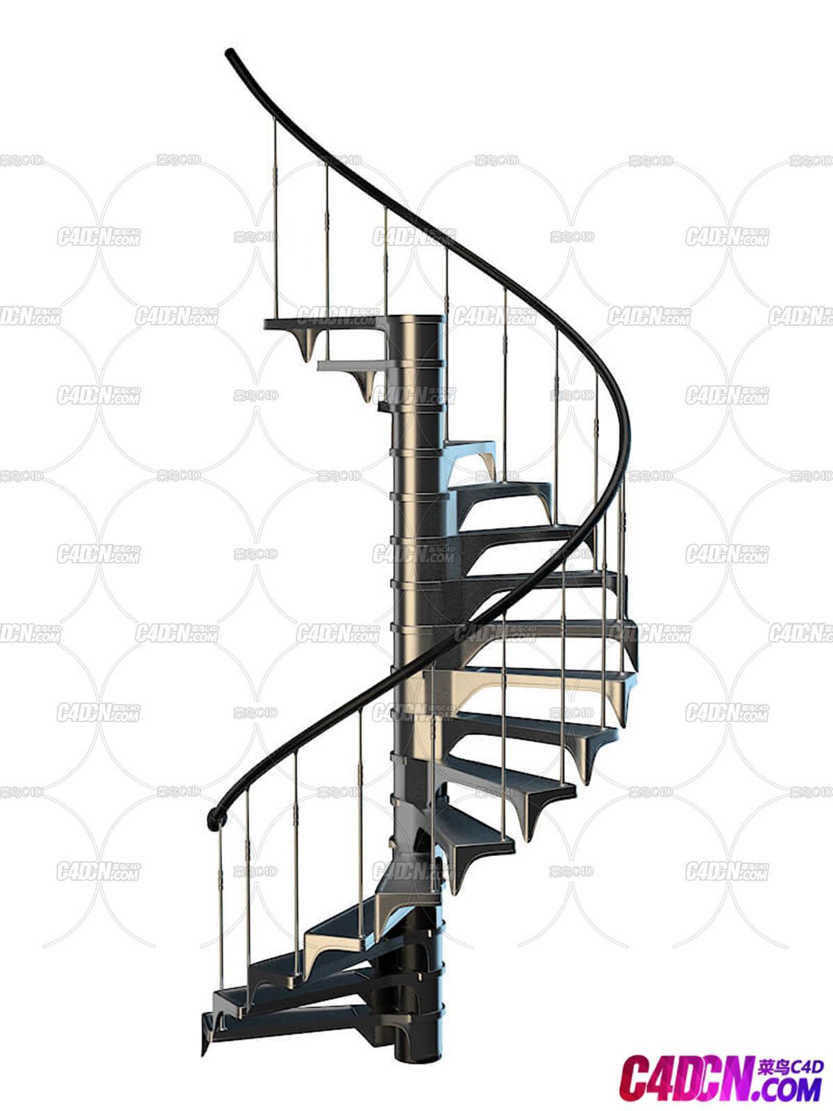 旋梯室内建筑楼房楼梯C4D模型