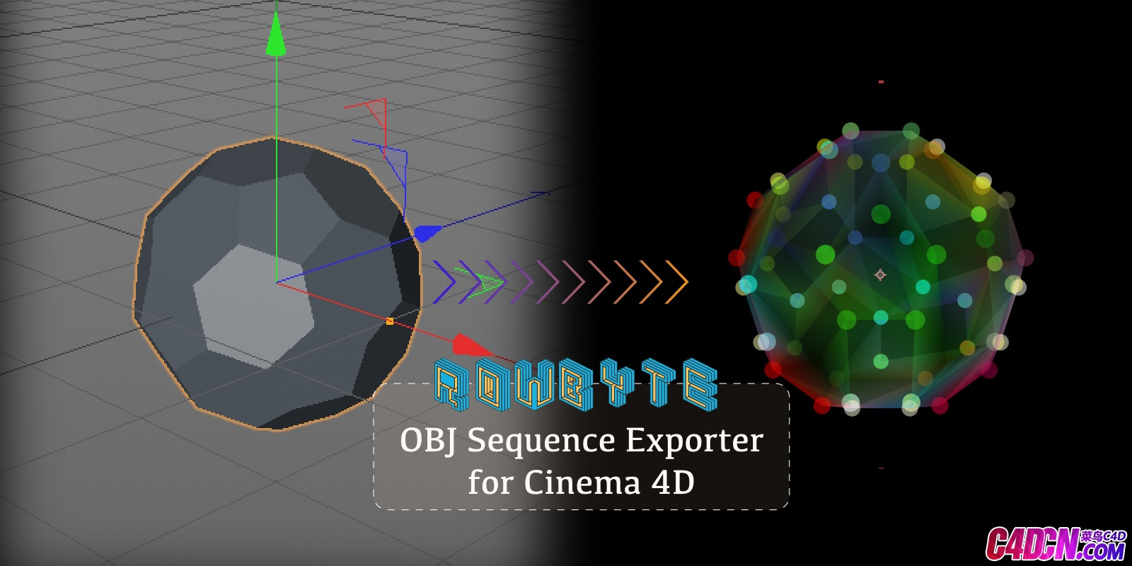 OBJ Sequence Exporter 2.0 for C4D R20