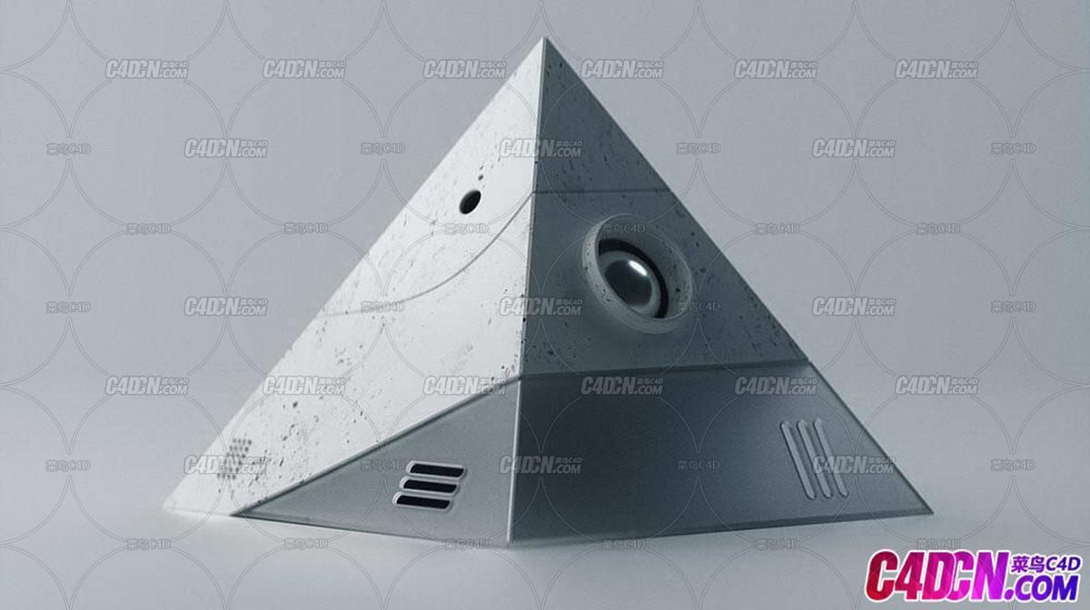Octane渲染器三角锥C4D工程