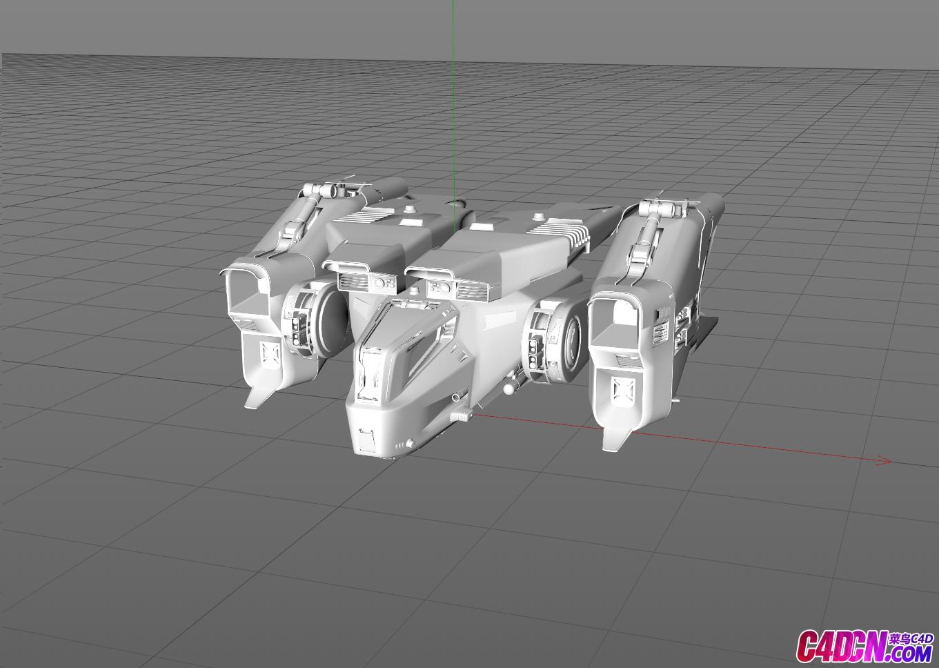 科幻飞船模型Fighter带贴图OBJ