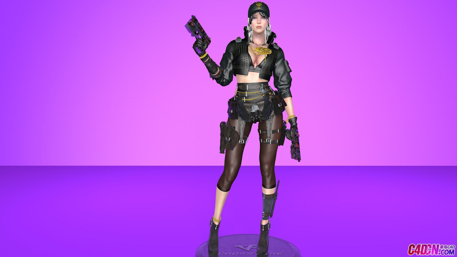 cf女英雄模型C4D模型