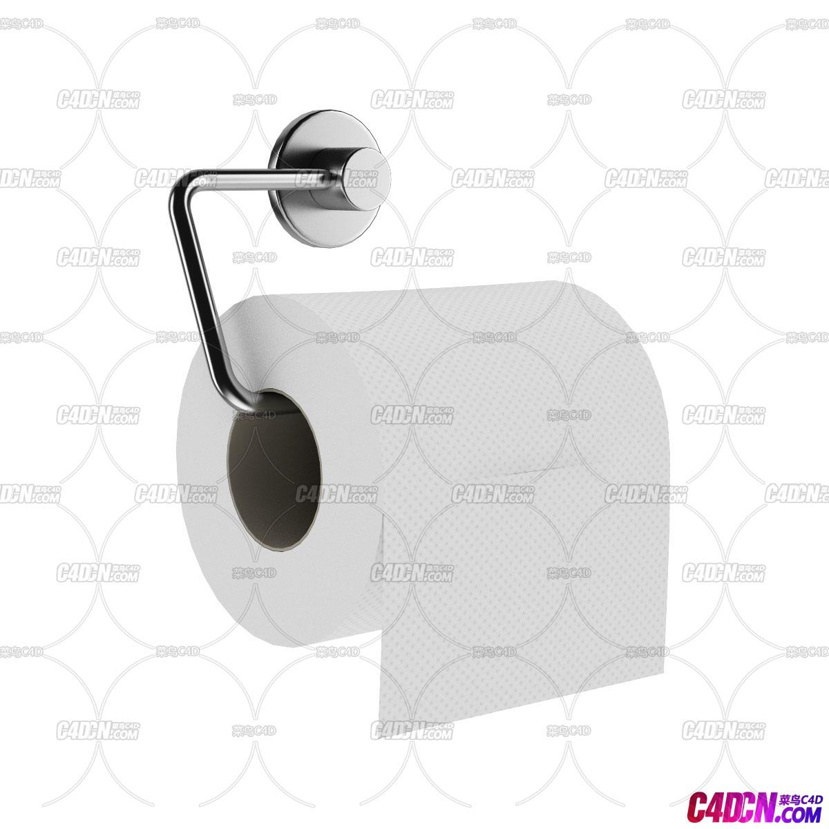 C4D模型 卫生间手纸抽纸卷纸卫生纸模型