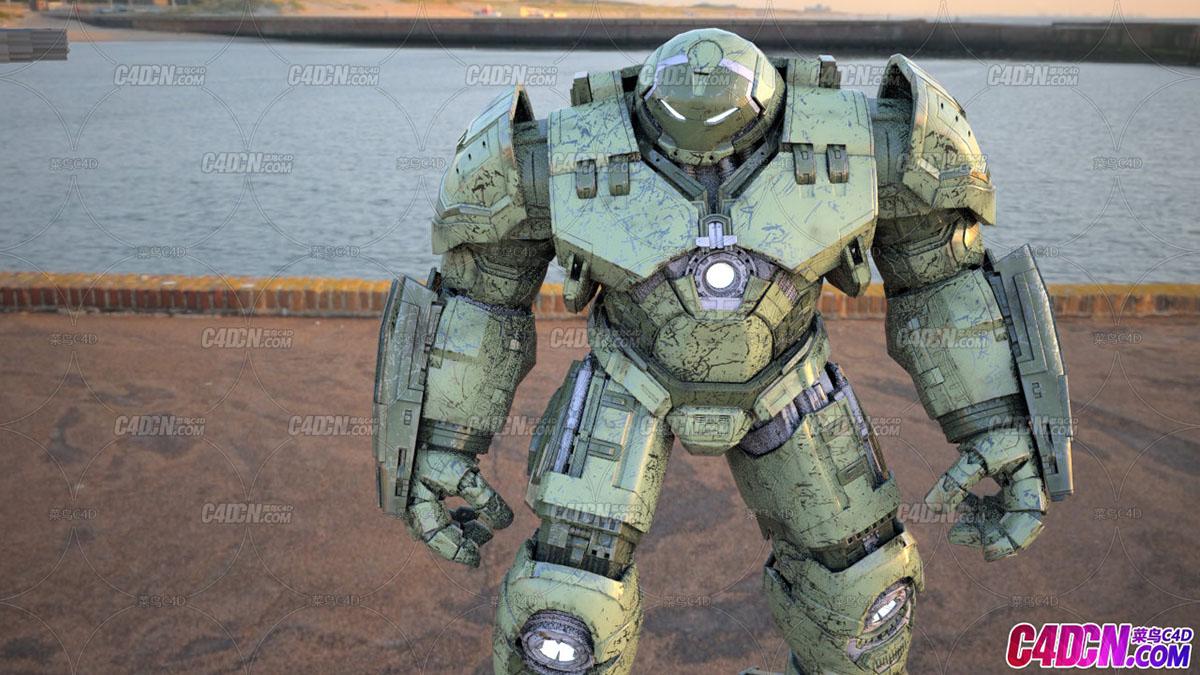 复仇者联盟,反浩克装甲高精度模型