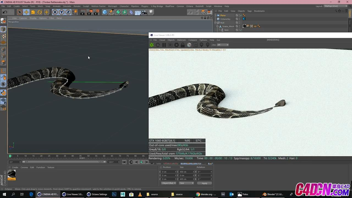 The Snake Tutorial (Cinema 4D _ Octane Render) - Rigging,Texturing, etc_20190424011132.JPG