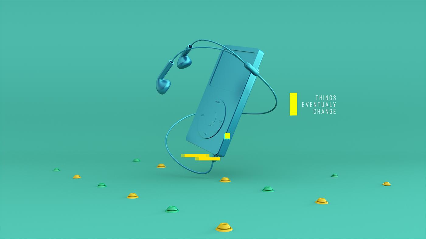 C4D作品 多物体造型变换变形动画