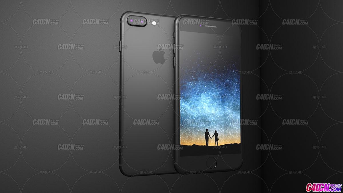 C4D模型 iphone7plus苹果手机模型