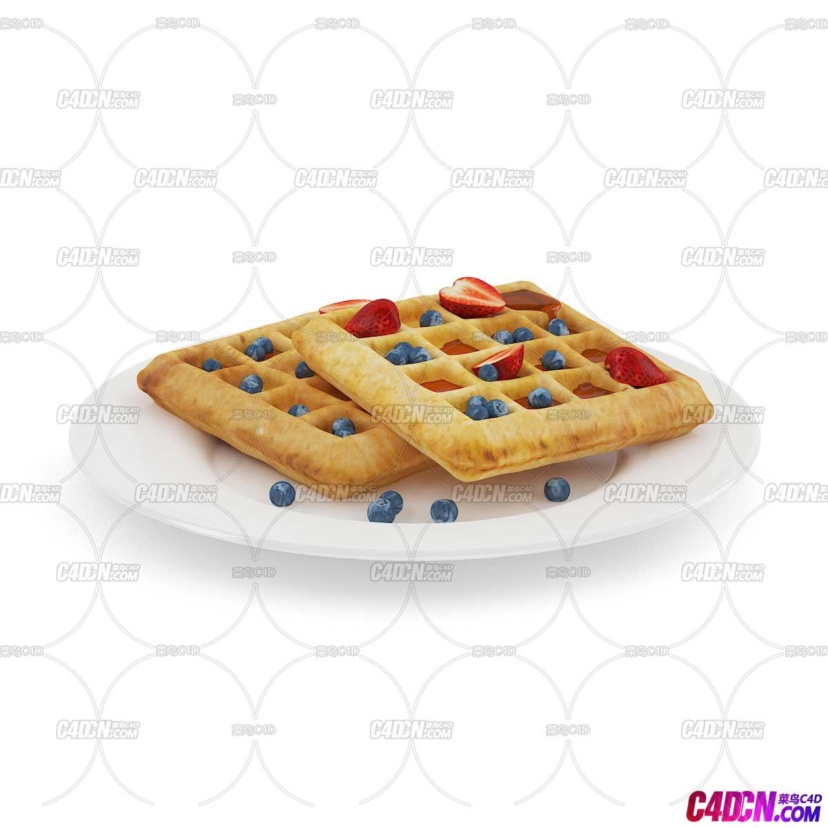C4D模型 饼干食品模型
