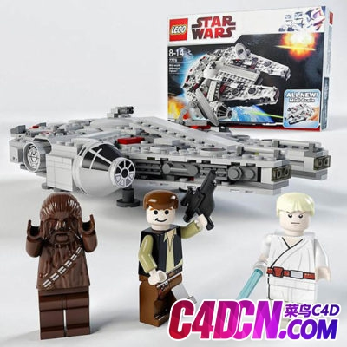 星球大战千年隼 乐高模型Midi-scale Millennium Falcon Lego Star Wars