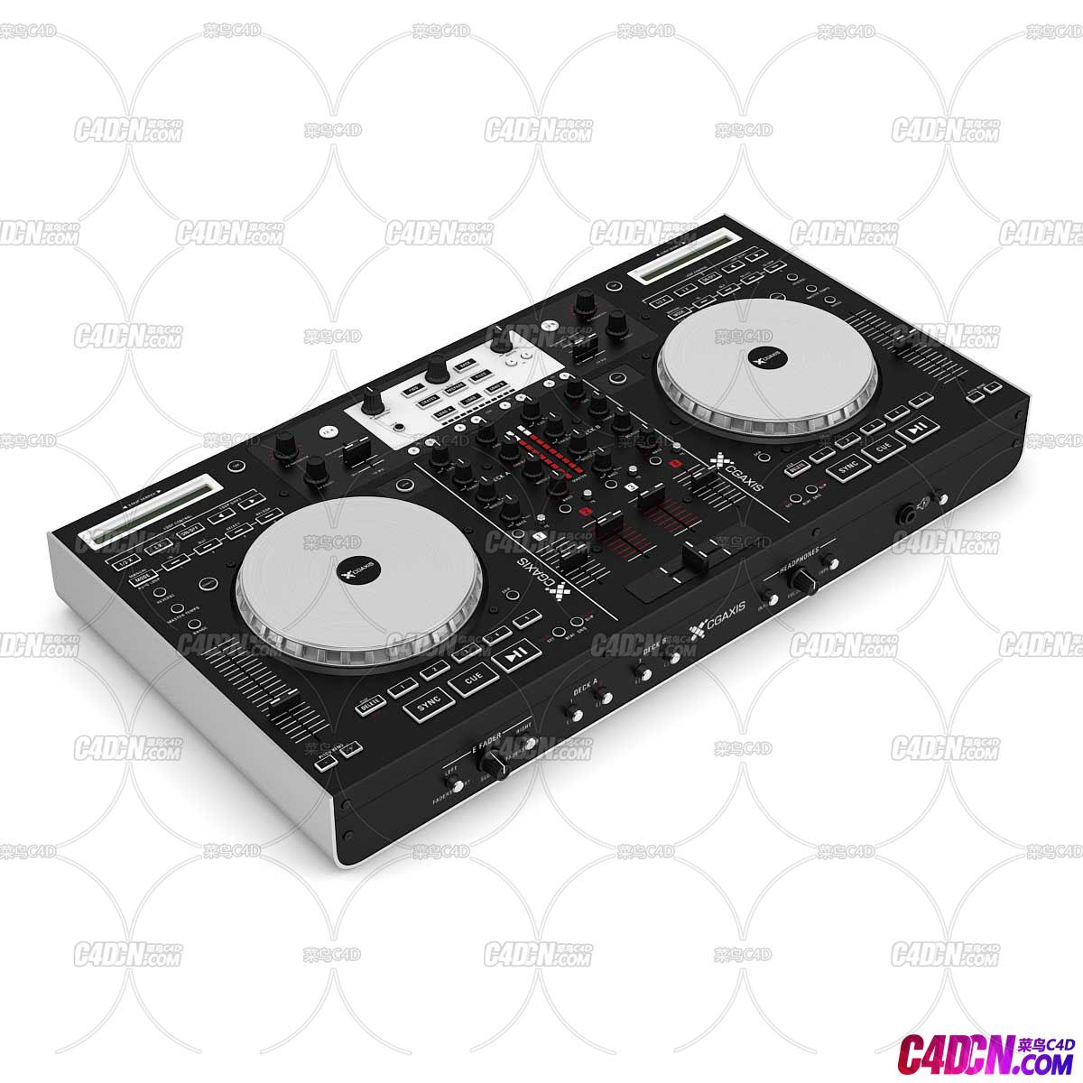C4D模型 DJ打碟机电音模型