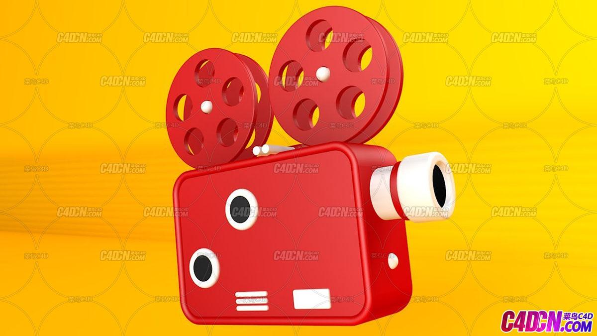 C4D教程 摄像机图标三维建模渲染教程