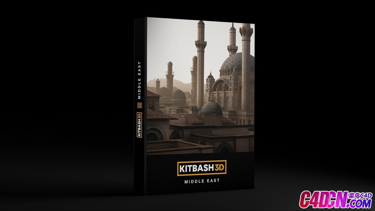 C4D模型 阿拉伯中东建筑清真寺古墓葬宫殿建筑模型合集