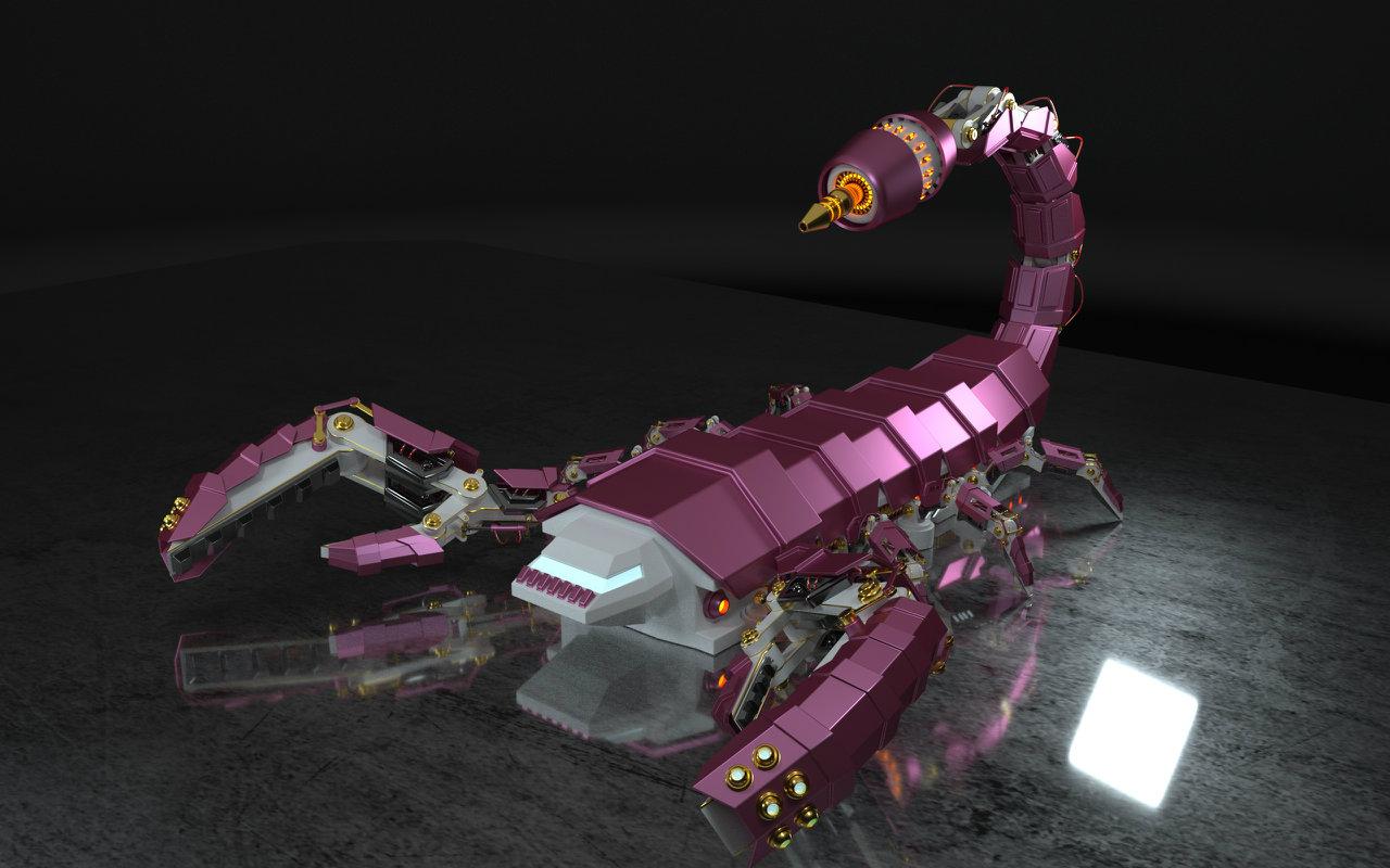 原創機械小蝎子(機械類模型第二彈)