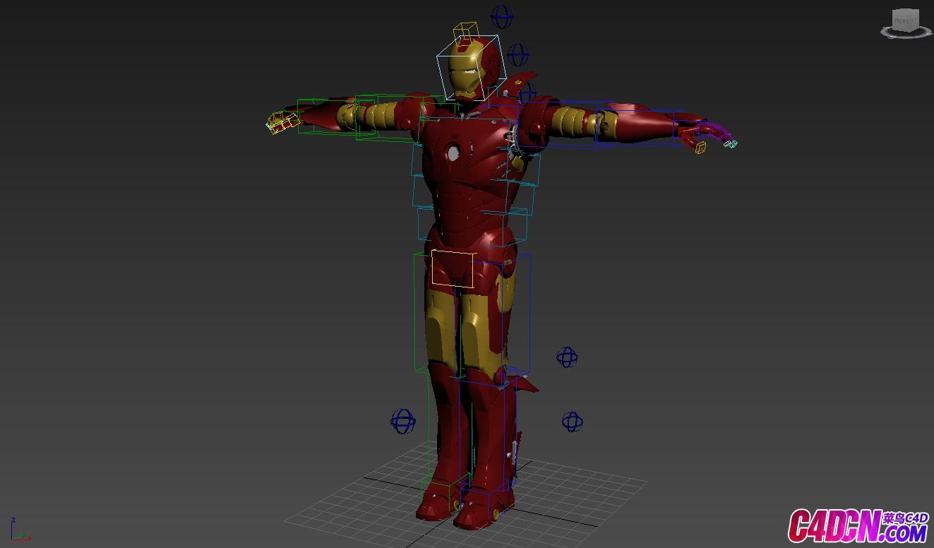 C4D模型 钢铁侠超级英雄机器人模型 Iron Man