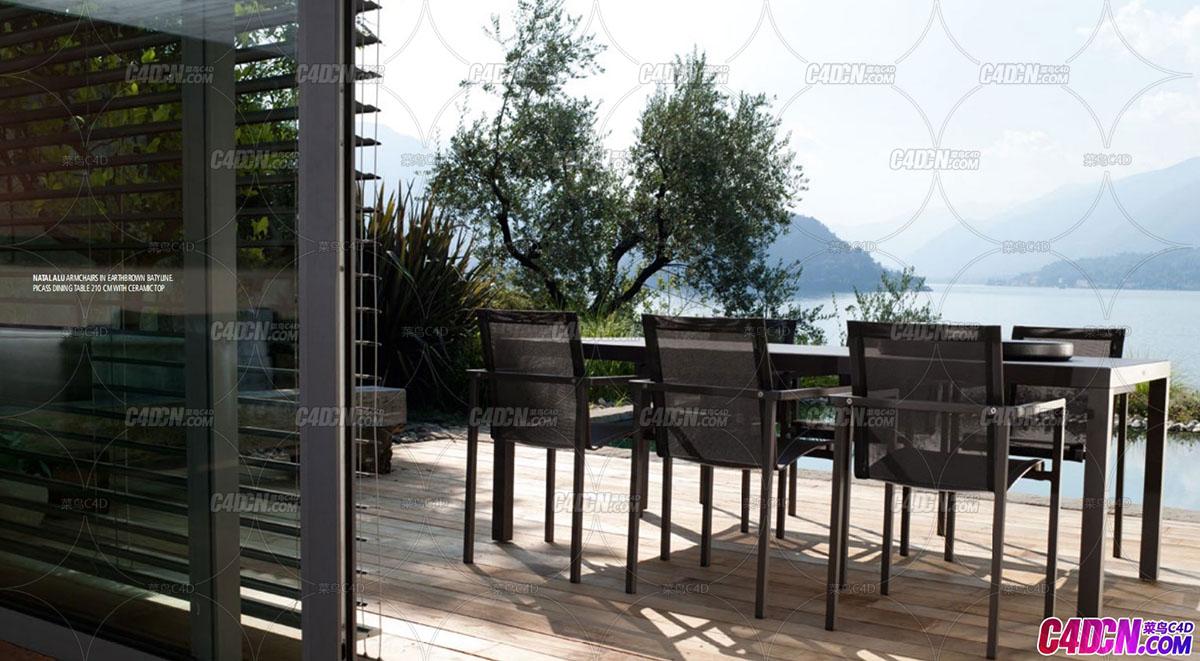56套Tribu品牌家具桌子椅子餐桌沙发C4D模型合集