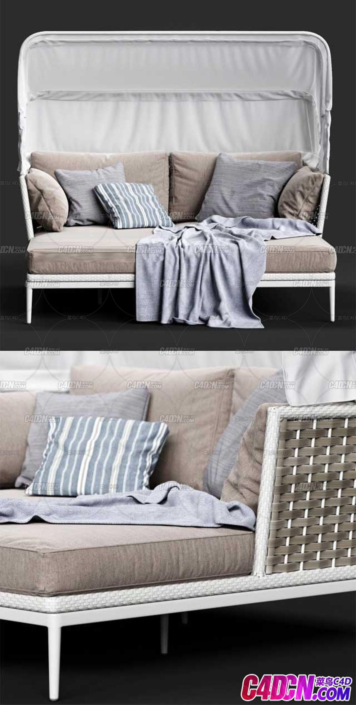 折叠沙发床家具3D模型