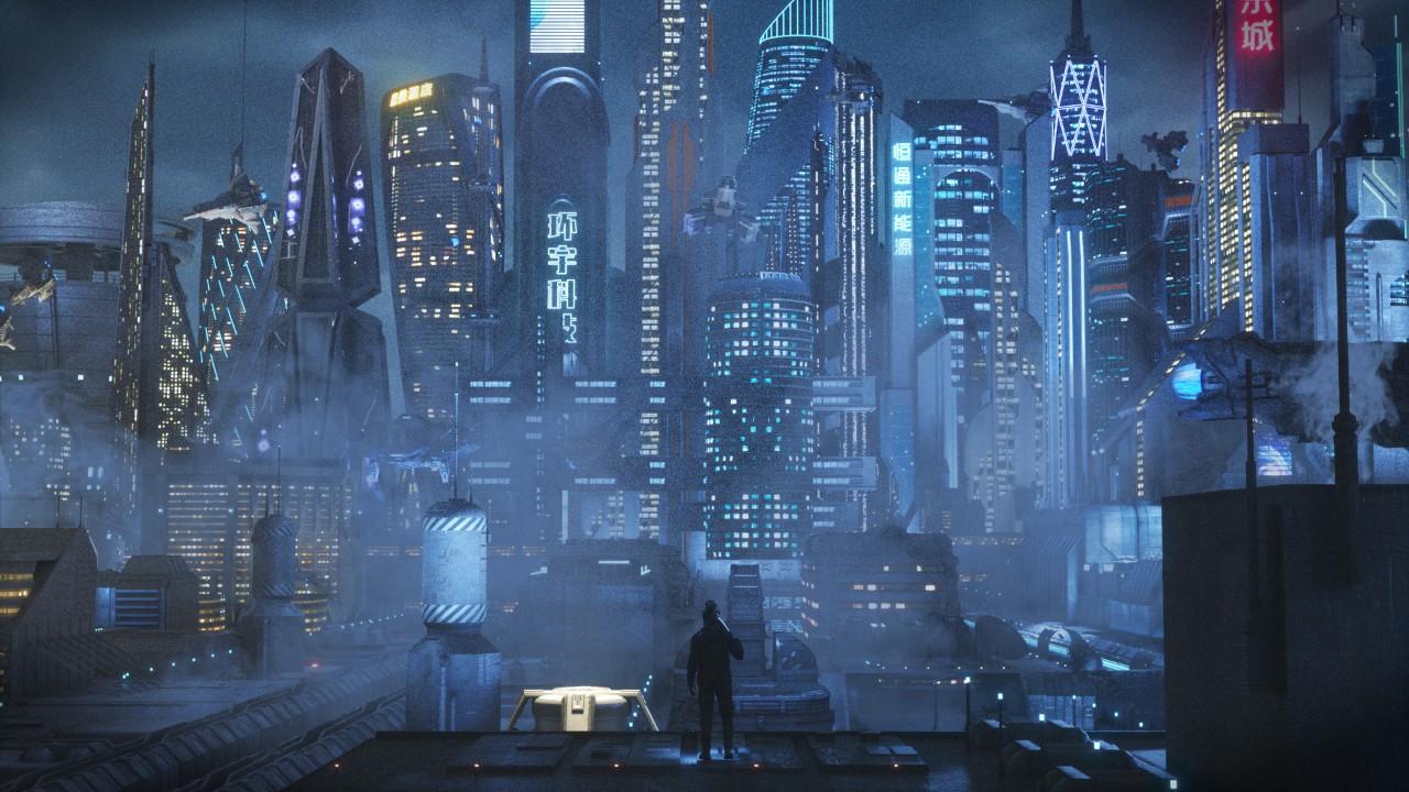 C4D大型科幻城市场景