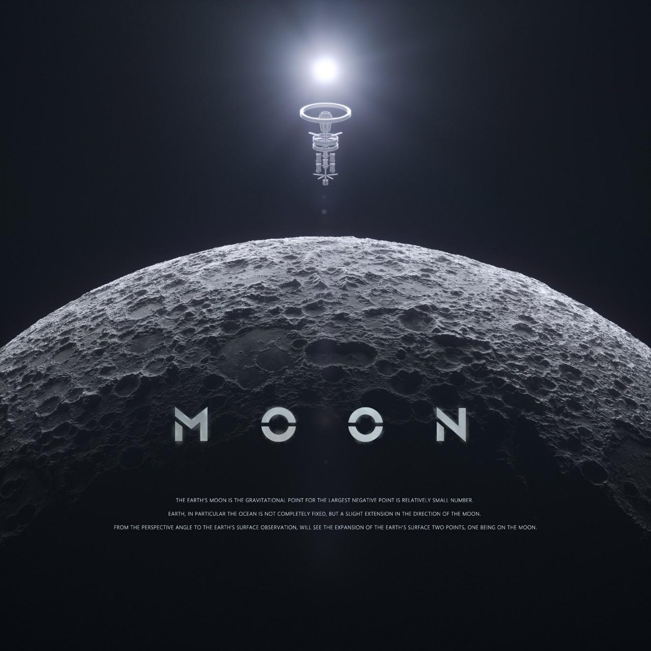 C4D月球科幻场景