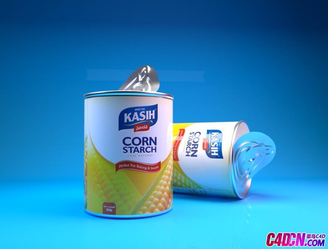 C4D教程 视频易拉罐铝罐材质包装建模渲染教程